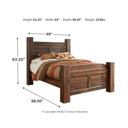 Ashley - Queen Poster Bed With Mirrored Dresser and 2 Nightstands