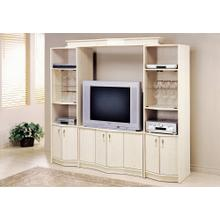 """See Details - TV STAND - WASHED OAK HOME THEATER TV STAND / 36""""TV"""