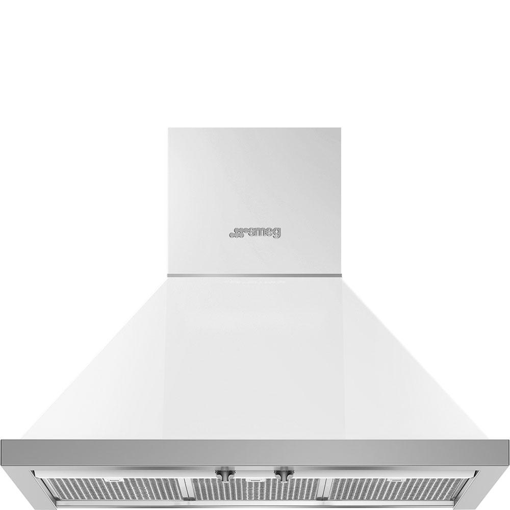 "Smeg30"" Portofino Chimney Hood, White"