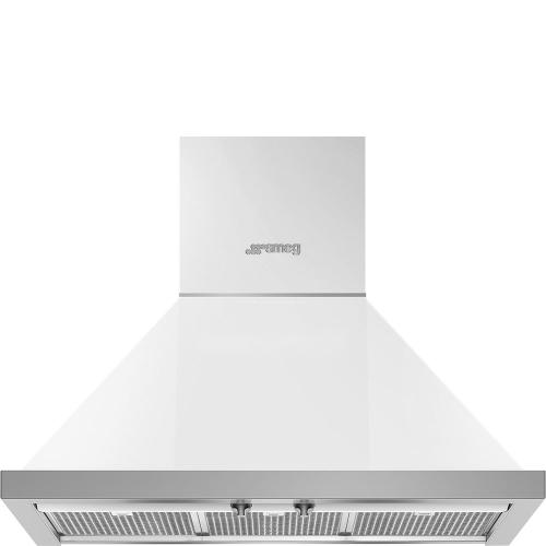 "30"" Portofino Chimney Hood, White"