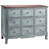 Hartford 3-drawer Chest In Aged Blue With Dark Top Product Image