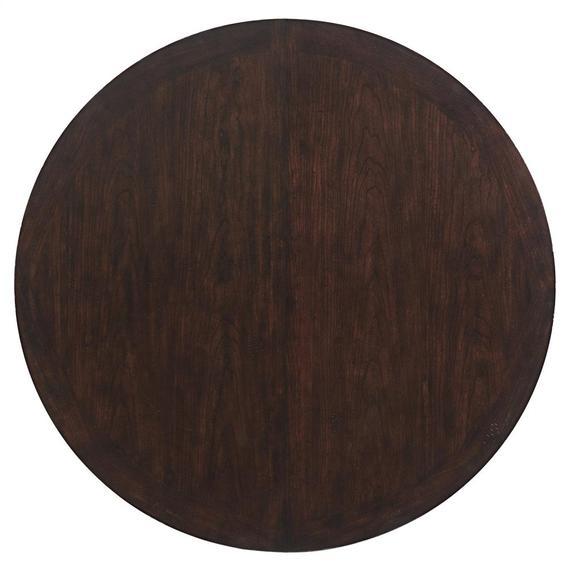 Riverside - Rosemoor - Round Dining Table Top - Burnt Caramel Finish