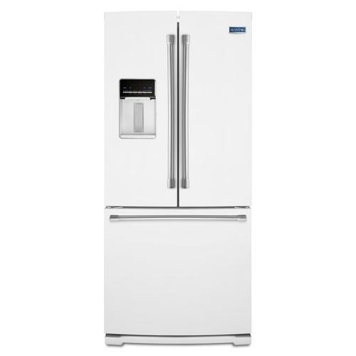 Gallery - Maytag® 30-inch Wide French Door Refrigerator with External Water Dispenser- 20 cu. ft. - White