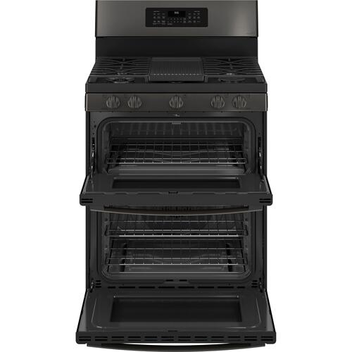 """GE Appliances - GE Profile™ 30"""" Free-Standing Gas Double Oven Convection Range with No Preheat Air Fry"""