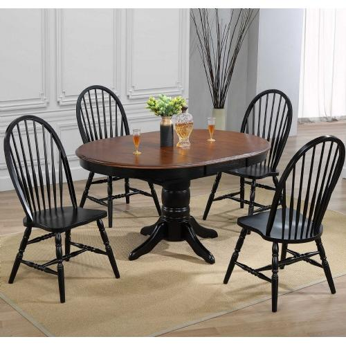 """Tennessee Enterprises - Windswept Shores Pedestal Dining Table W/1-15"""" Butterfly Leaf"""
