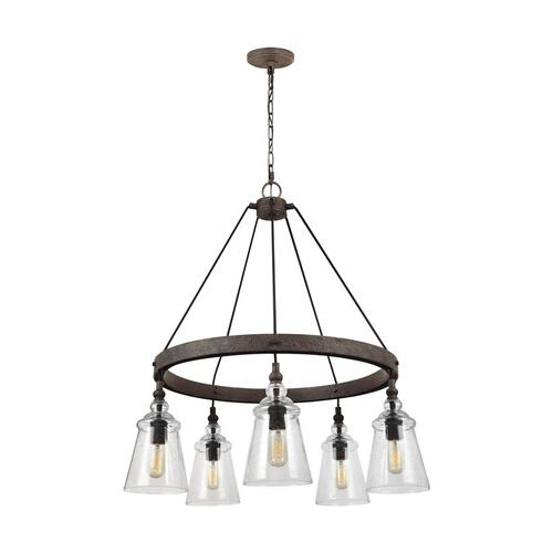 Loras Medium Chandelier Dark Weathered Iron