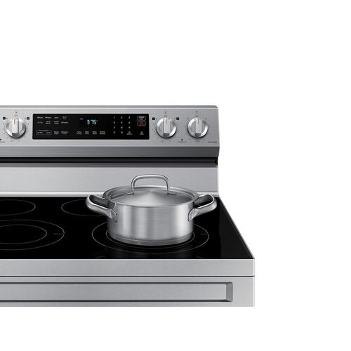 6.3 cu. ft. Smart Freestanding Electric Range with No-Preheat Air Fry & Convection in Stainless Steel