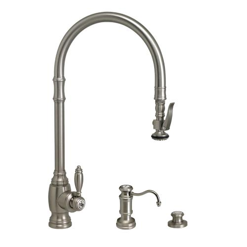 Traditional PLP Extended Reach Pulldown Faucet 3pc. Suite - 5500-3 - Waterstone Luxury Kitchen Faucets