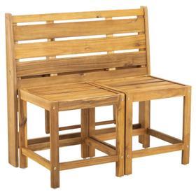 Ruben Balcony Bench and Table - Natural