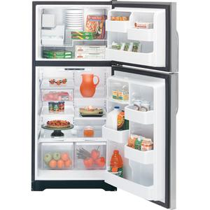 GE® 17.9 Cu. Ft. Stainless Top-Freezer Refrigerator with Internal Dispenser