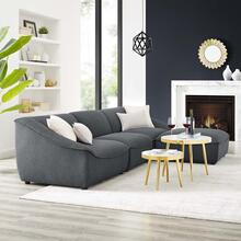 Comprise 4-Piece Living Room Set in Charcoal