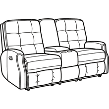 Devon Leather Reclining Console Loveseat without Nailhead Trim