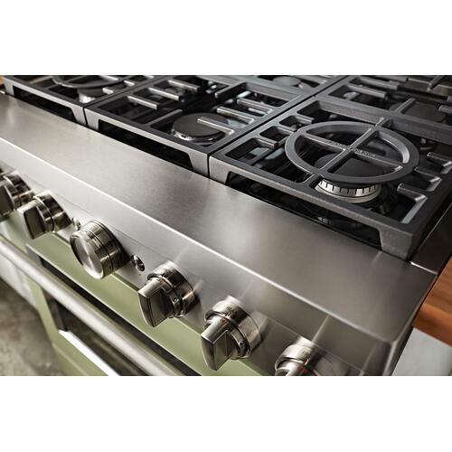 KitchenAid® 36'' Smart Commercial-Style Gas Range with 6 Burners - Avocado Cream