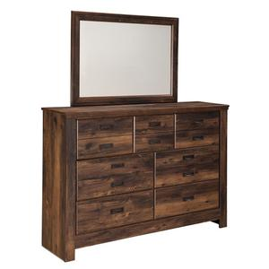 B246 Bedroom Mirror (Quinden Dark Brown)