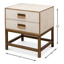 See Details - Shagreen Side Table, Osprey White