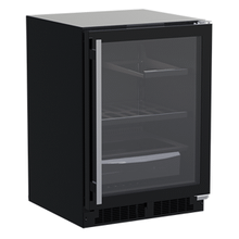 24-In Built-In Refrigerator With 3-In-1 Convertible Shelf And Maxstore Bin with Door Style - Black Frame Glass