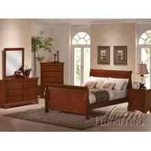 Cherry Oak Finish Eastern King Bedroom Set