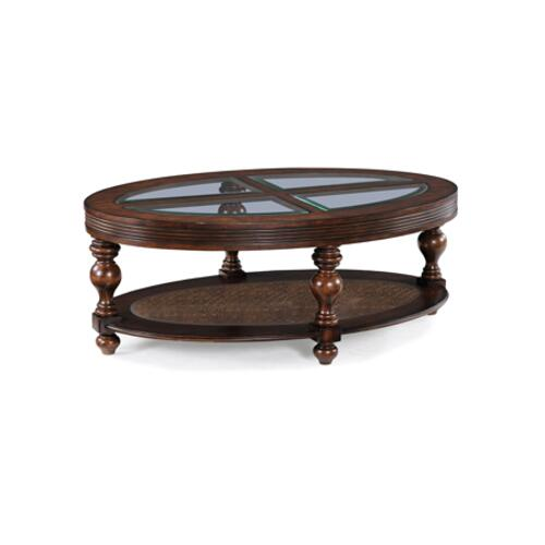 Magnussen Home - Oval Cocktail Table w/ casters
