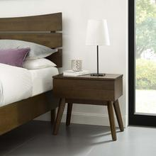 See Details - Everly Wood Nightstand in Walnut