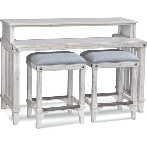 Artisan Landing Sofa Table / Bar with Stools