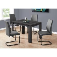 """DINING CHAIR - 2PCS / 39""""H / GREY LEATHER-LOOK / METAL"""