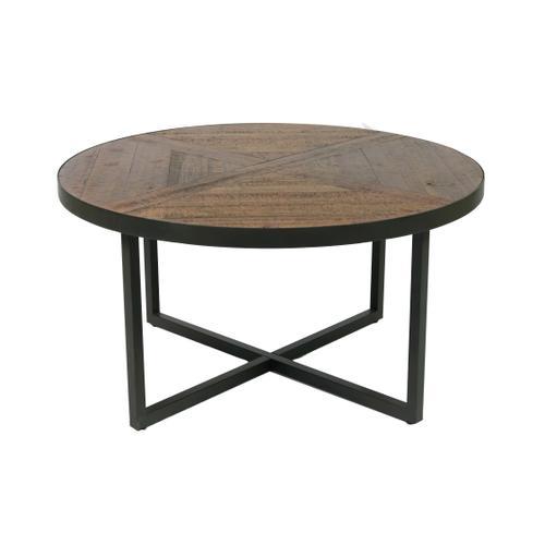 Denton Round Coffee Table, Antique Pine T650-00a