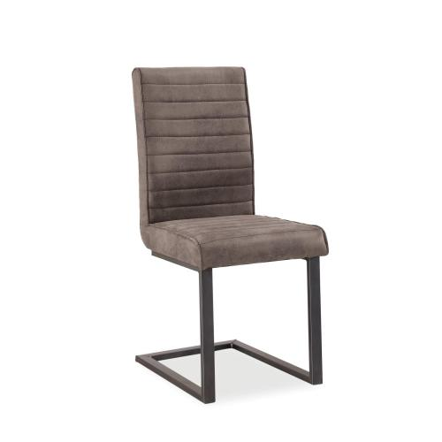 Global Home - Cantilever Chair - Grey Fabirc