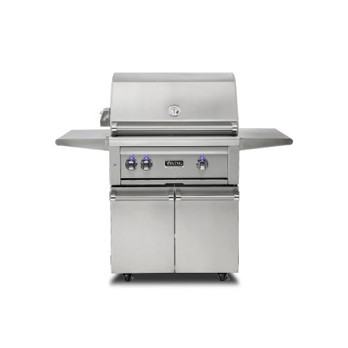 "30""W. Freestanding Grill with ProSear Burner and Rotisserie - VQGFS5301"