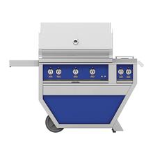 "36""grill, (2)trellis, (1)sear, Rotis, DLX.CART W/DBL.SIDE Burner-lp-blue"