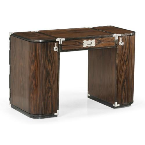 Jonathan Charles - Campaign Style Dark Santos Rosewood Dressing Table