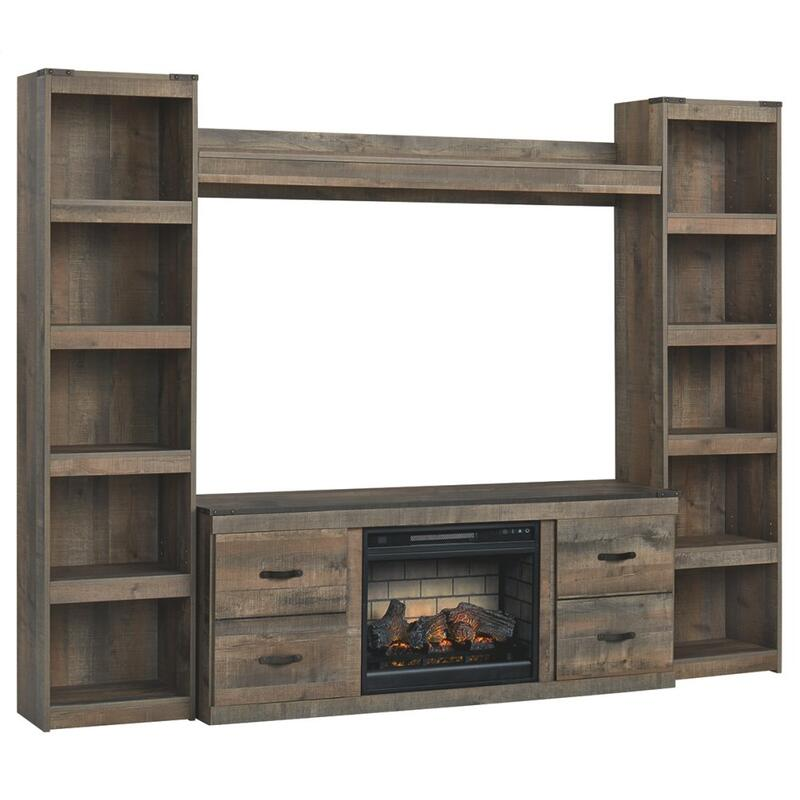 View Product - Trinell 4-piece Entertainment Center With Electric Fireplace