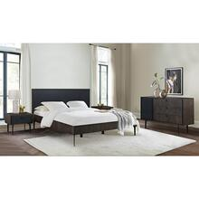 See Details - Cross Dark Gray Solid Oak King 4 Piece Bedroom Set