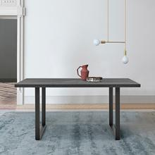 See Details - Fenton Dining Table with Charcoal Top and Black Base