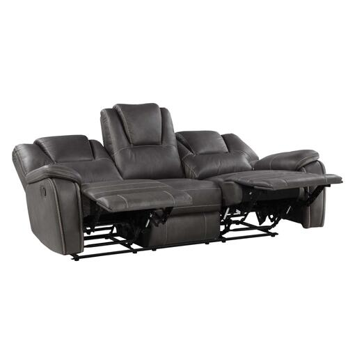 Katrine 3-Piece Manual Motion Set, Charcoal (Sofa, Loveseat & Chair)