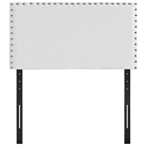 Phoebe Twin Upholstered Vinyl Headboard in White