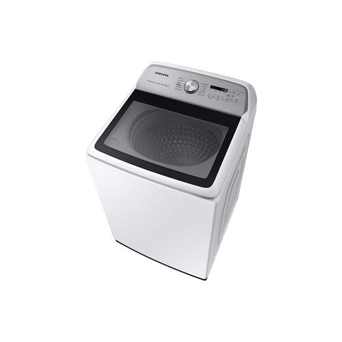 Samsung - 5.4 cu. ft. Top Load Washer with Super Speed in White