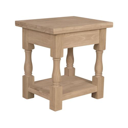 Product Image - Unfinished Tuscan End Table