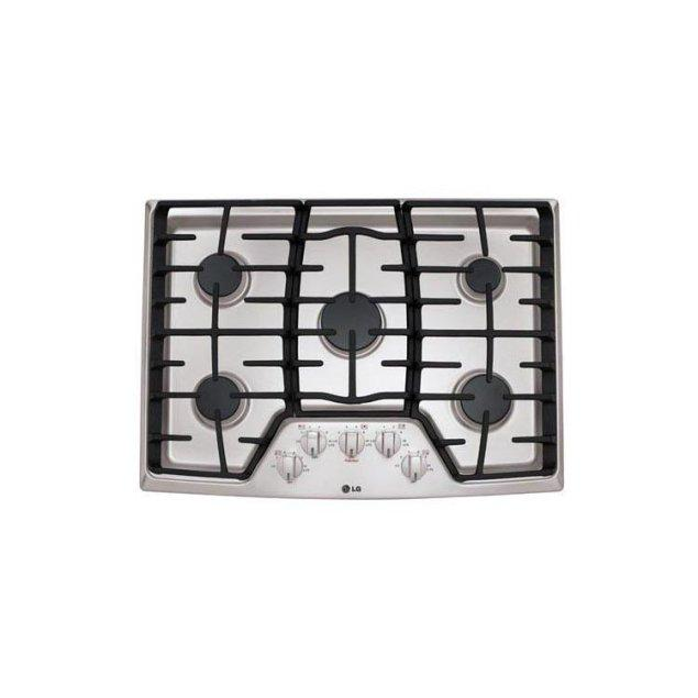 """LG Appliances 30"""" Gas Cooktop with SuperBoil™"""