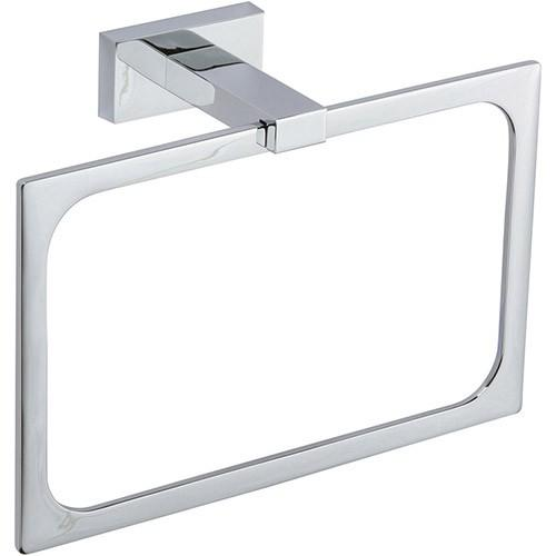 Axel Bath Towel Ring - Polished Chrome