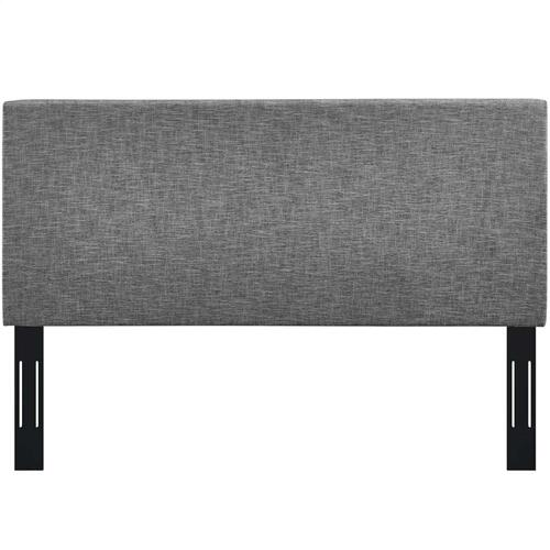 Modway - Taylor Full / Queen Upholstered Linen Fabric Headboard in Light Gray