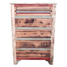 Multi Color Louvered Chest