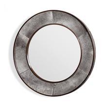 Irina Round Mirror - Grey