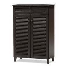 See Details - Baxton Studio Harding Espresso Shoe-Storage Cabinet