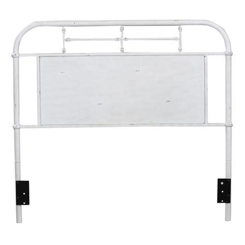 Full Metal Headboard - Antique White