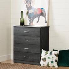 4-Drawer Chest Dresser - Gray Oak