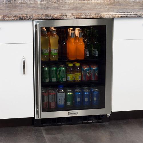 24-In Built-In Beverage Center with Door Swing - Right
