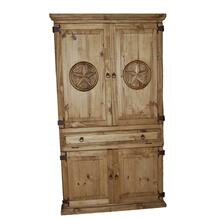 Computer Armoire with Star