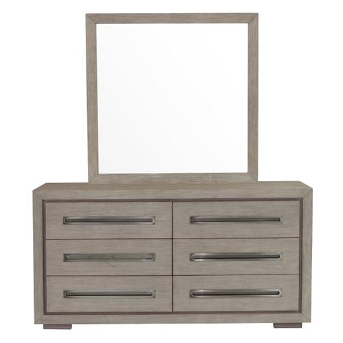 Modern Dresser Mirror in Natural Taupe
