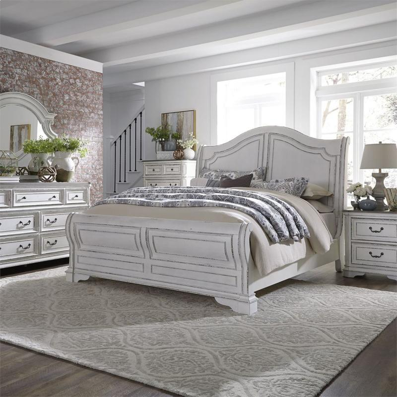 Queen Sleigh Bed, Dresser & Mirror, Chest, Night Stand
