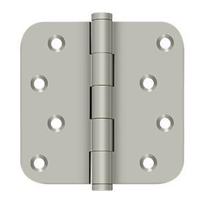 """4"""" x 4"""" x 5/8"""" Radius Hinge / Zig-Zag - Brushed Nickel"""
